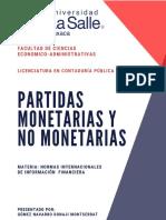 PARTIDAS MONETARIAS Y NO MONETARIAS