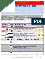 Lista de precios INVIERNO 2 2019 CCTV NO DPP