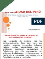 LA REALIDAD DEL PERÚ - HAYA DE LA TORRE