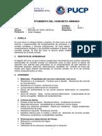1CIV13 COMPORTAMIENTO DEL CONCRETO ARMADO-2019-1