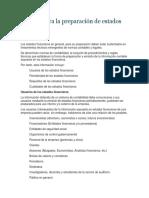 Normas para la preparación de estados financieros