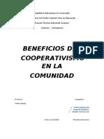 beneficios del cooperativismo en la comunidad