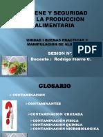 SESION II UNIDAD I BUENAS PRACTICAS Y  MANIPULACION DE ALIMENTOS
