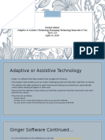 adaptive or assistive technology emerging technology innovative uses presentation