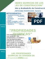 PROPIEDADES QUIMICAS DE LOS MATERIALES DE CONSTRUCCION