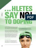 ATHLETES SAY NO TO DOPING