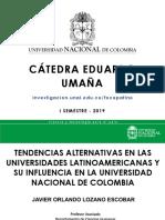 Tendencias Alternativas en Educación Superior - Catedra Umaña 2017