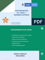 Procedimientos en Torax y M superior