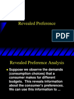 Topic 6 - Revealed Preference