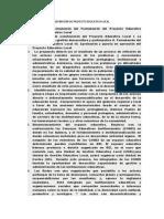 DEFINICIÓN DE PROYECTO EDUCATIVO LOCAL
