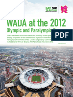 WADA AT THE 2012 OLYMPIC AND PARALYMPIC GAMES