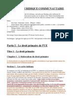 SYSTEME JURIDIQUE COMMUNAUTAIRE - L3 Droit