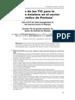 Uso de las TIC para la gestión hotelera en el sector turístico de Pastaza