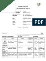 Formato Planificación del 1er día de clases.2020