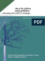 Contribución a la crítica de la economía política Introducción (.pdf