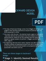3.1 BACKWARD DESIGN MODEL and others