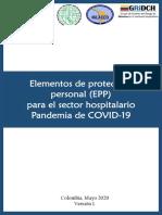 EPP Para COVID-19 en El Sector Hospitalario V1