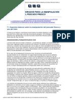 7. METODOS MEJORADOS PARA LA MANIPULACION DEL PESCADO FRESCO
