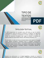 TIPO DE TEXTOS