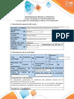 Guía de actividades y rúbrica de evaluación - Tarea 5 - Evaluación final Verificar la apropiación de los conceptos recogidos en el curso (4) (1) (2).docx