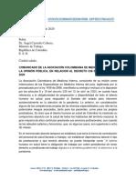 Carta mintrabajo rechazo decreto 538