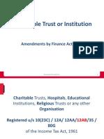 Trust- Amendment Finance Act 2020
