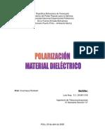 Trabajo Polarizacion del Material Dielectrico