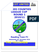 Allied Counties Programme v Reading Town (Cup) 29122010