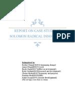 Solomon's radical innovation dilemma - a case study Report final