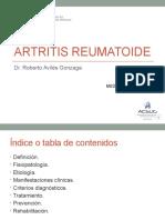 13ra semana 3ra sesion - Artritis Reumatoide - Dr. Avilés