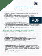 Publicar Requisitos Inscripcion en Linea