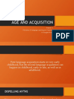 acquisition and age