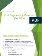 Civil Engineering Materials NEA
