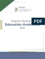 Programa  nacional de educación ambiental2018