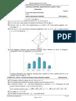 ENVIII Matematica 2020 Test 18