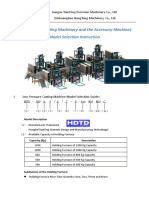 LOW PRESSURE CASTING MACHINE MODEL SELECTION INSTRUCTION