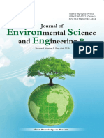 Journal of Environmental Science and Engineering,Vol.8,No.5B,2019