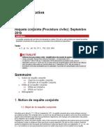Fiche d'orientation - Requête conjointe (Procédure civile)