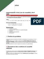 Fiche d'orientation - Responsabilité civile (Lien de causalité)