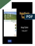 9. Hypothesis Testing statistika