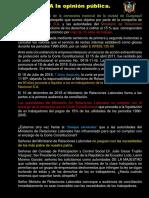 A la opinión pública-2-CASO CERVECERIA NACIONAL 2018
