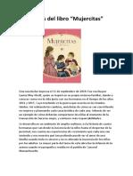 Análisis del libro mujercitas de Louisa May Alcott.