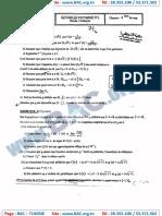 Devoir Synthése N°1 avec correction - Mathematique - bac science -Lycée Echebbi Chihia.11b
