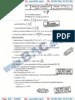 Devoir Synthése N°1 avec correction - Mathematique - bac science - Lycée Pilote Sfax