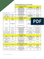CCA Schedule Jan 2009
