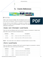 HTML Events References