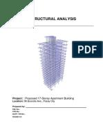 STRUCTURAL ANALYSIS - 17 STOREY APARTMENT BUILDING.pdf