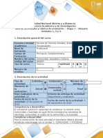 Guía de actividades y rúbrica de evaluación – Etapa 1 – Glosario Unidades 1, 2 y 3.