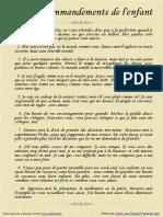 10 Commandements pour enfants (fr)