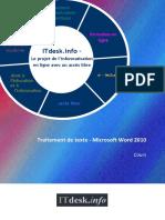 Traitement de texte - Microsoft Word 2010 - cours